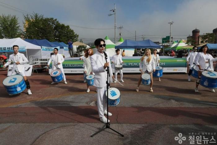 보도자료(제16회 철원DMZ국제평화마라톤대회)4_라퍼커션 공연.JPG