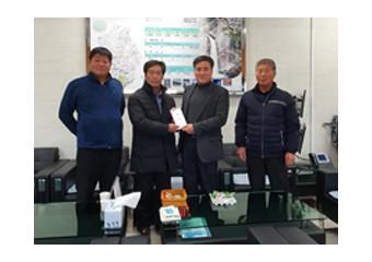 쌀전업농회, 갈말읍에 이웃돕기 성금 100만원 전달